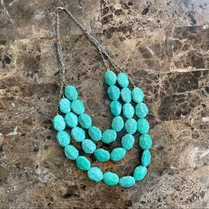 Beautiful turquoise bead colored layered necklace